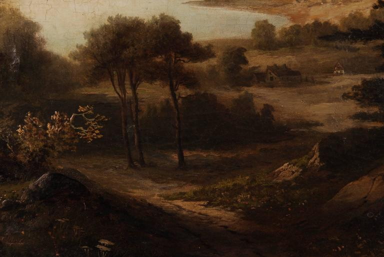 19th Century Landscape Oil Painting For Sale 1