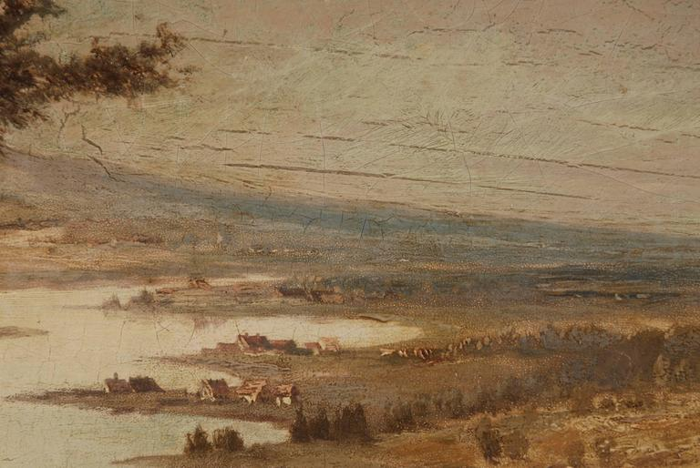 19th Century Landscape Oil Painting For Sale 3