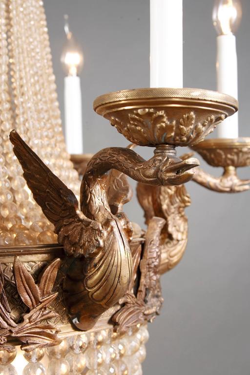 20th Century Empire Style Splendid Chandelier or Candelabra For Sale 1