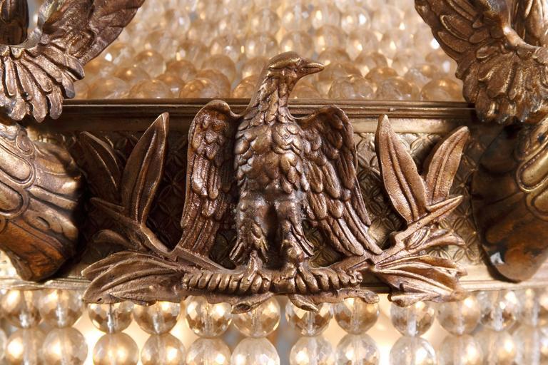 20th Century Empire Style Splendid Chandelier or Candelabra For Sale 4