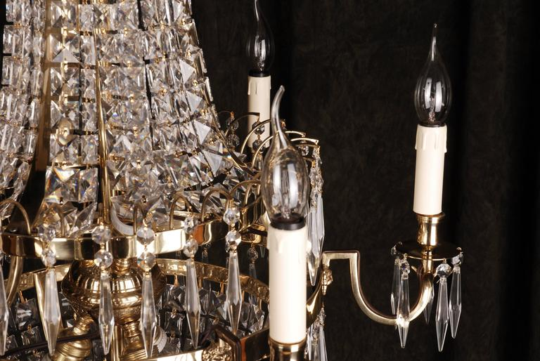 20th Century Classicist Style Swedish Empire Ceiling Candelabra For Sale 3