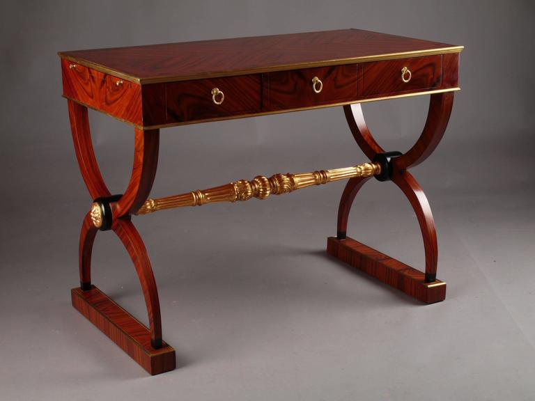 20th century empire style writing table for sale at 1stdibs for Table sam extensible