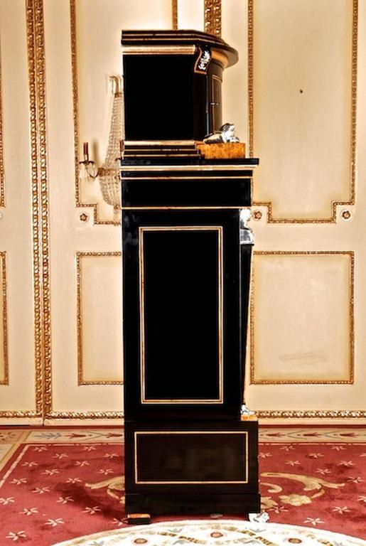 Veneer 20th Century Empire Style Courtly Lion Secretaire For Sale