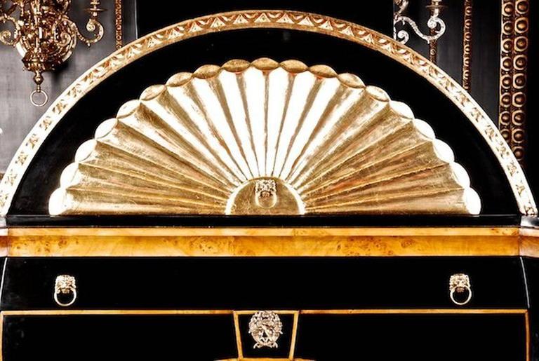 20th Century Viennese Biedermeier Style Lyre Secretaire For Sale 3