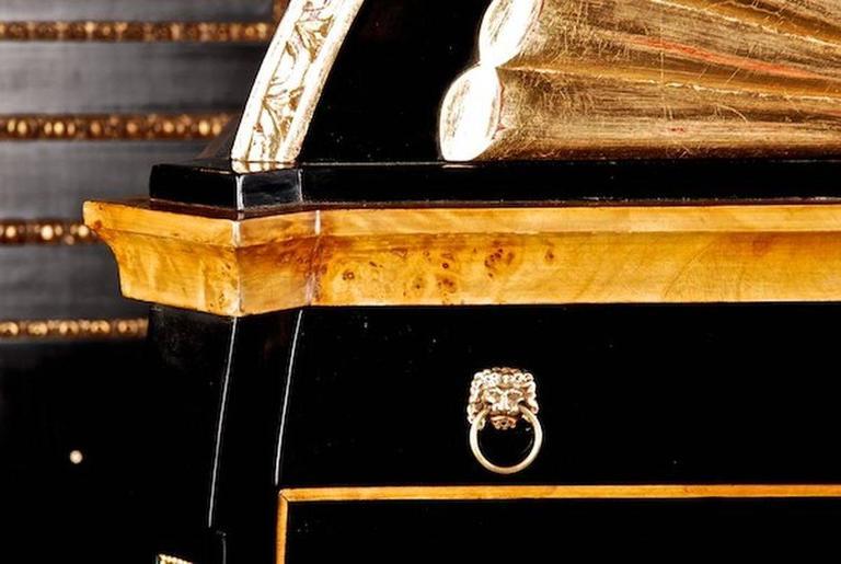 20th Century Viennese Biedermeier Style Lyre Secretaire For Sale 4