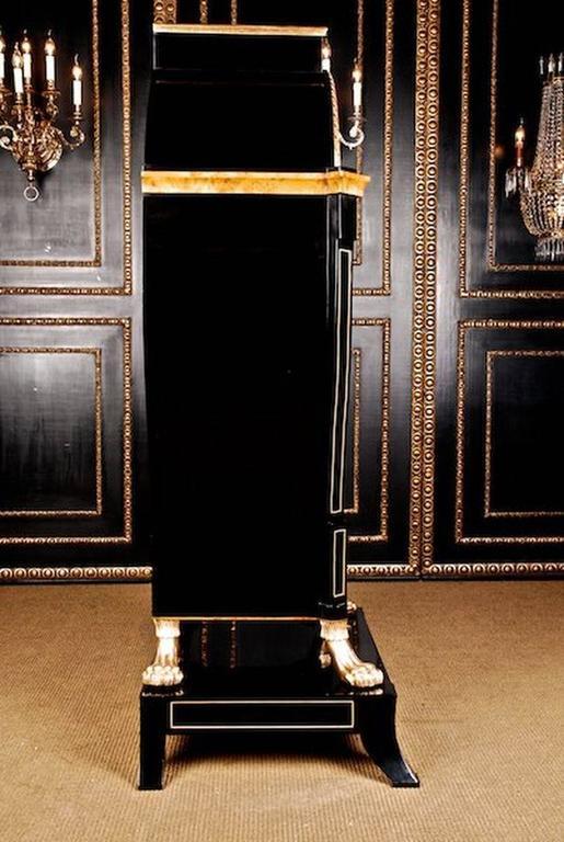 Empire 20th Century Viennese Biedermeier Style Lyre Secretaire For Sale