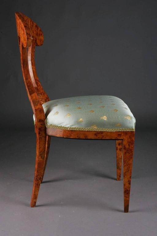 Veneer 20th Century Vienna Biedermeier Beech Chair after Josef Danhauser For Sale