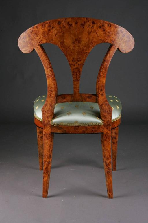 20th Century Vienna Biedermeier Beech Chair after Josef Danhauser In Good Condition For Sale In Berlin, DE
