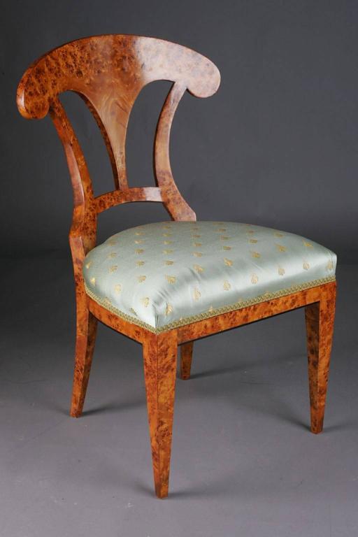 20th Century Vienna Biedermeier Beech Chair after Josef Danhauser For Sale 4