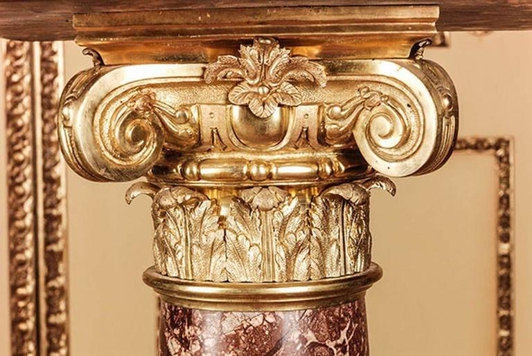 Neoclassical 20th Century Classicist Style Marble Ornamental Pillar/Column For Sale