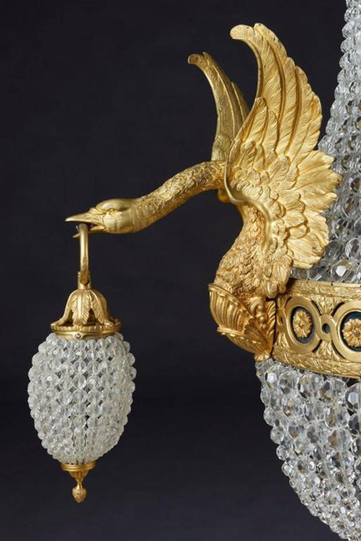 20th Century Empire Style Basket Applique or Wall Lamp For Sale 4