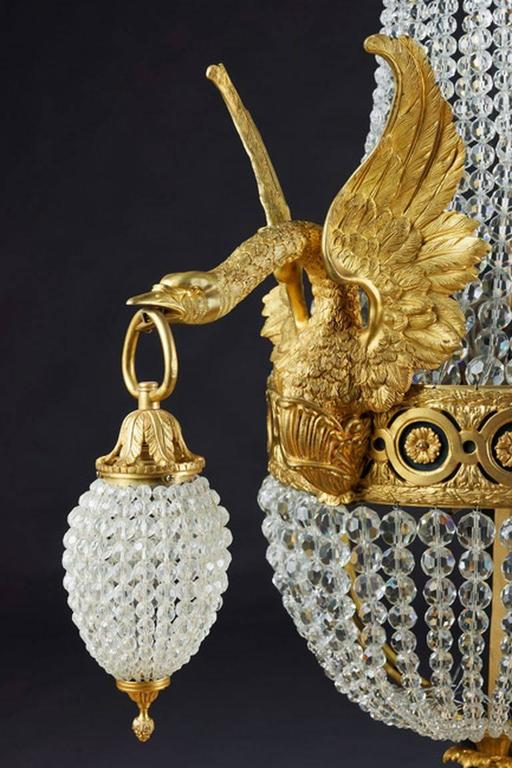 20th Century Empire Style Basket Applique or Wall Lamp For Sale 3