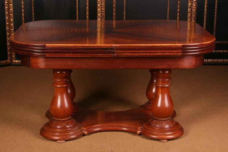 German 19th Century Biedermeier Extending Table For Sale