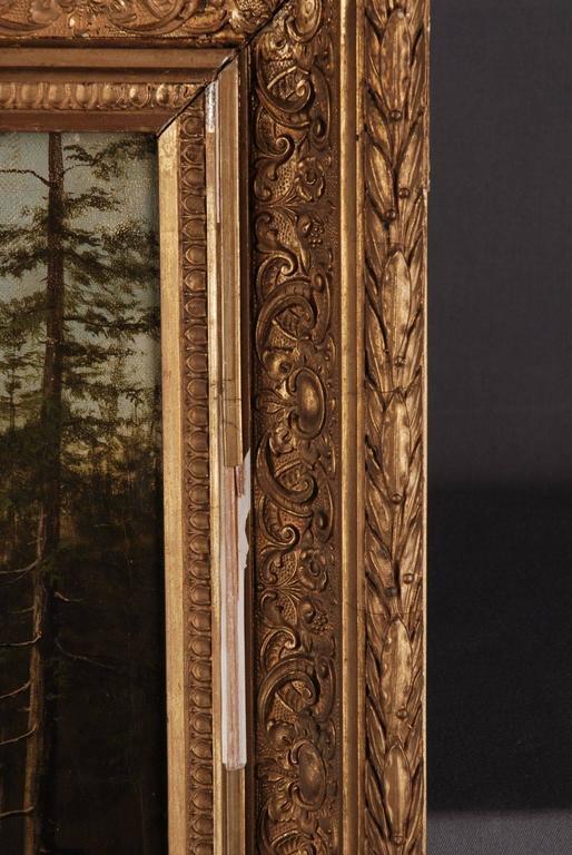 19th Century Biedermeier Oil Painting Forest Landscape 4