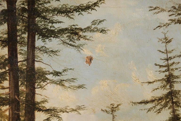 19th Century Biedermeier Oil Painting Forest Landscape 3