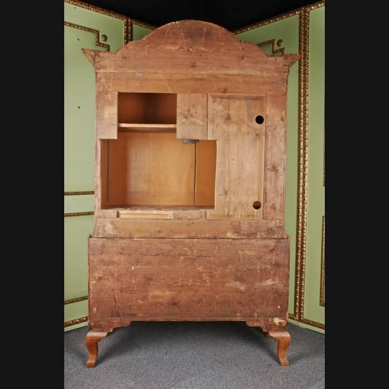 18th Century and Earlier 19th Century Baroque Style Walnut Wardrobe For Sale