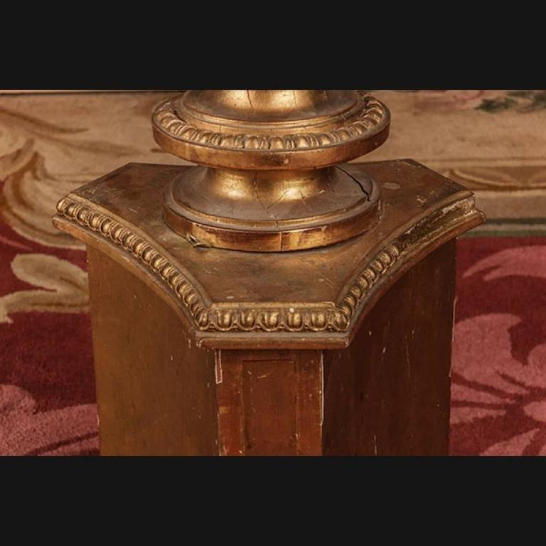 19th Century Napoleon III Style Three-Sided Paws Column For Sale 1