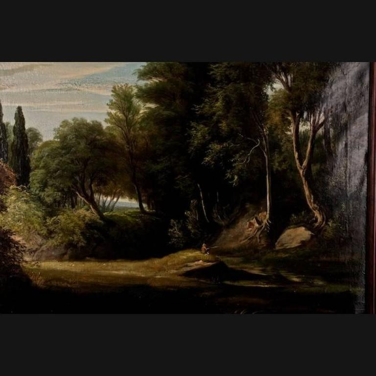 A beautiful landscape painting 1st half of the 19th century