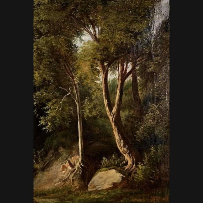 19th Century Painting Oil on Canvas Landscape For Sale 2