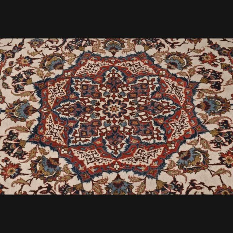 20th Century Persian Cream-Colored Rug For Sale At 1stdibs