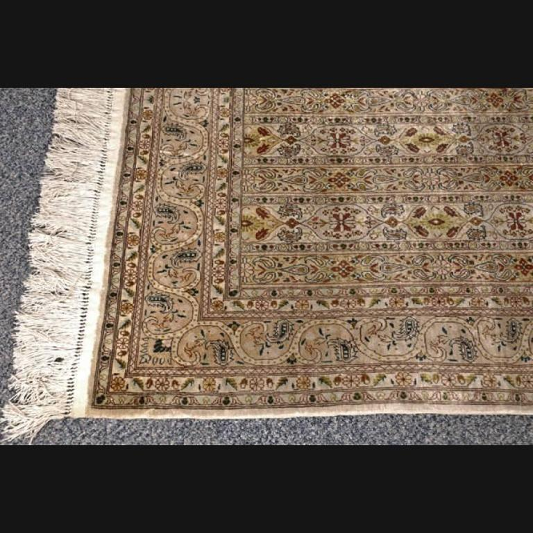 20th Century Persian Rug Silk Ghom Bridge For Sale At 1stdibs