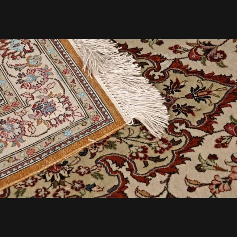 20th Century Cream-Colored Persian Rug For Sale At 1stdibs