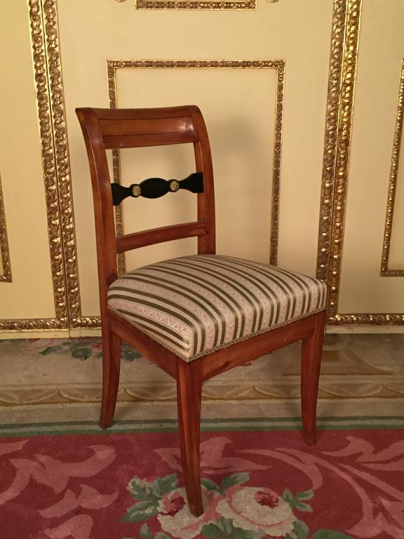 19th Century Set of Biedermeier Chairs Cherrywood 1830 In Good Condition For Sale In Berlin, DE