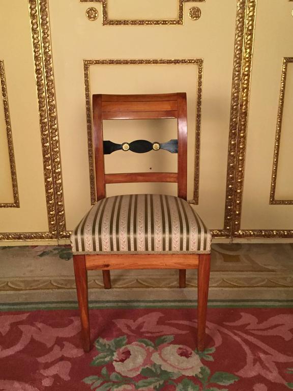 German 19th Century Set of Biedermeier Chairs Cherrywood 1830 For Sale