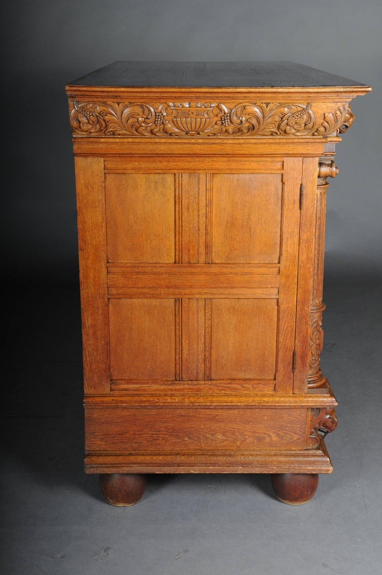 19th Century Neo Renaissance Console Buffet, Solid Oak For Sale 4