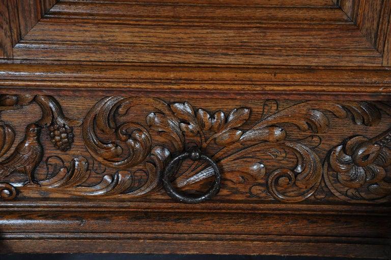 19th Century Neo Renaissance Console Buffet, Solid Oak For Sale 1