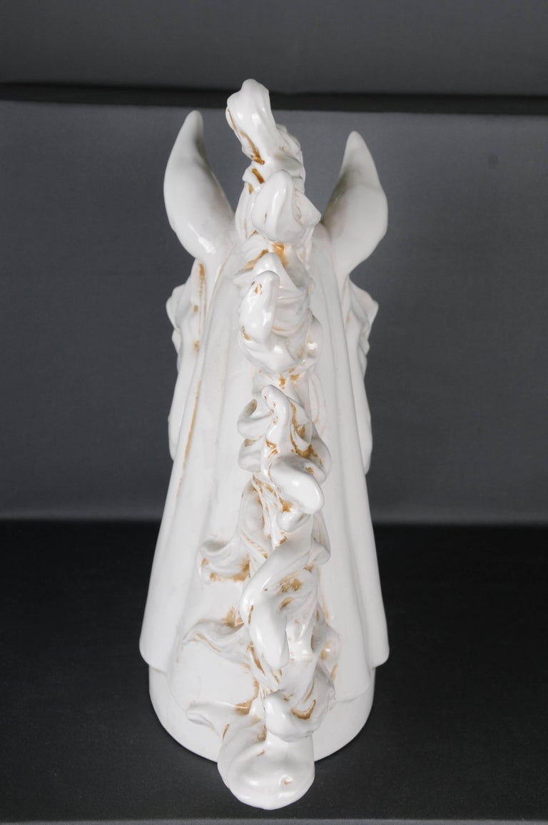 20th Century Monumental Horse Head, White Horse Pottery For Sale 2