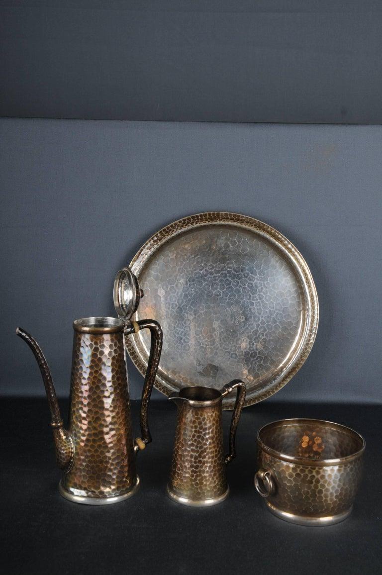 Art Deco 20th Century Tiffany & Co. Demitasse Sterling-Silver Set, Rare For Sale