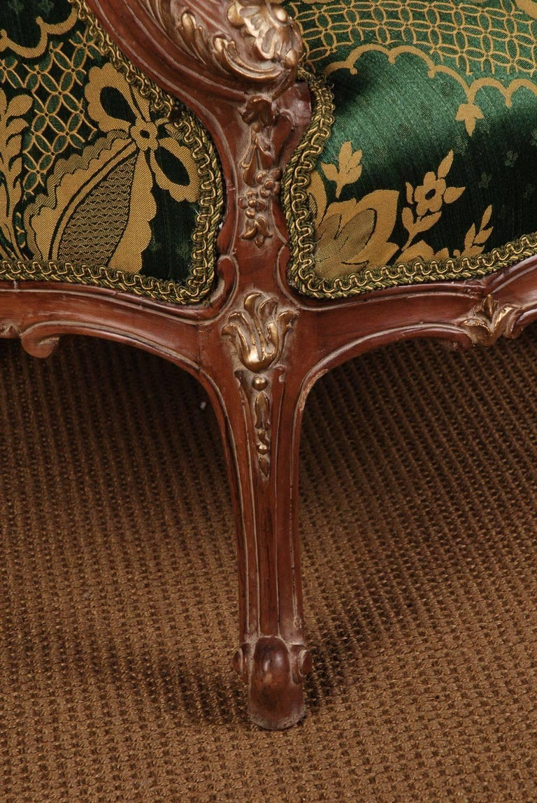 20th Century Louis Quinze Style French Curly-Leg Bergère For Sale 2
