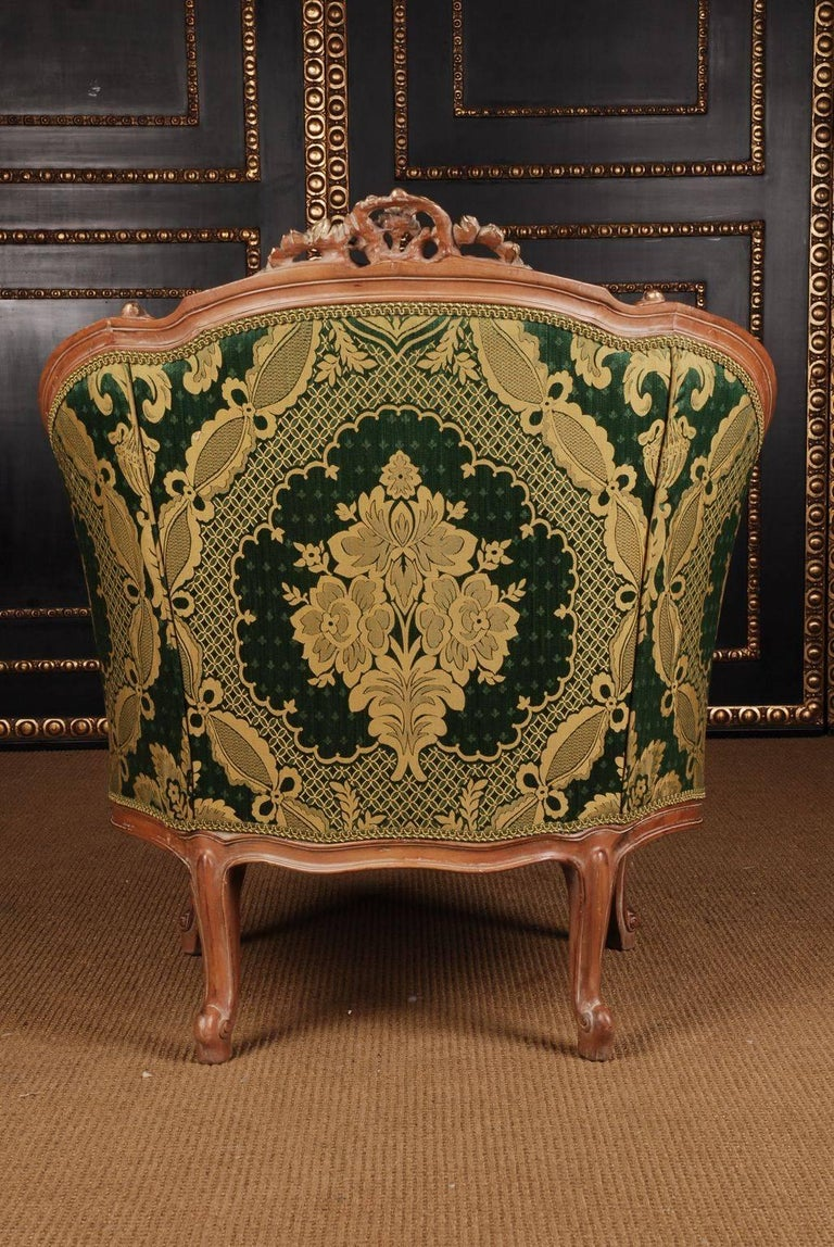 20th Century Louis Quinze Style French Curly-Leg Bergère For Sale 3