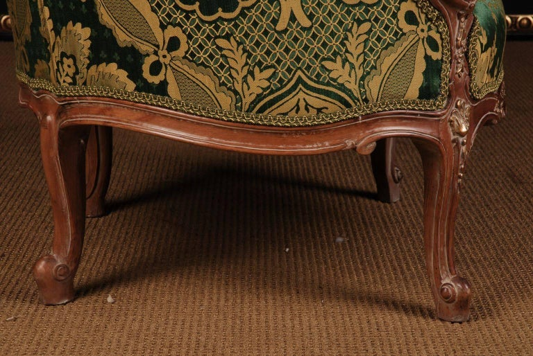 20th Century Louis Quinze Style French Curly-Leg Bergère For Sale 4