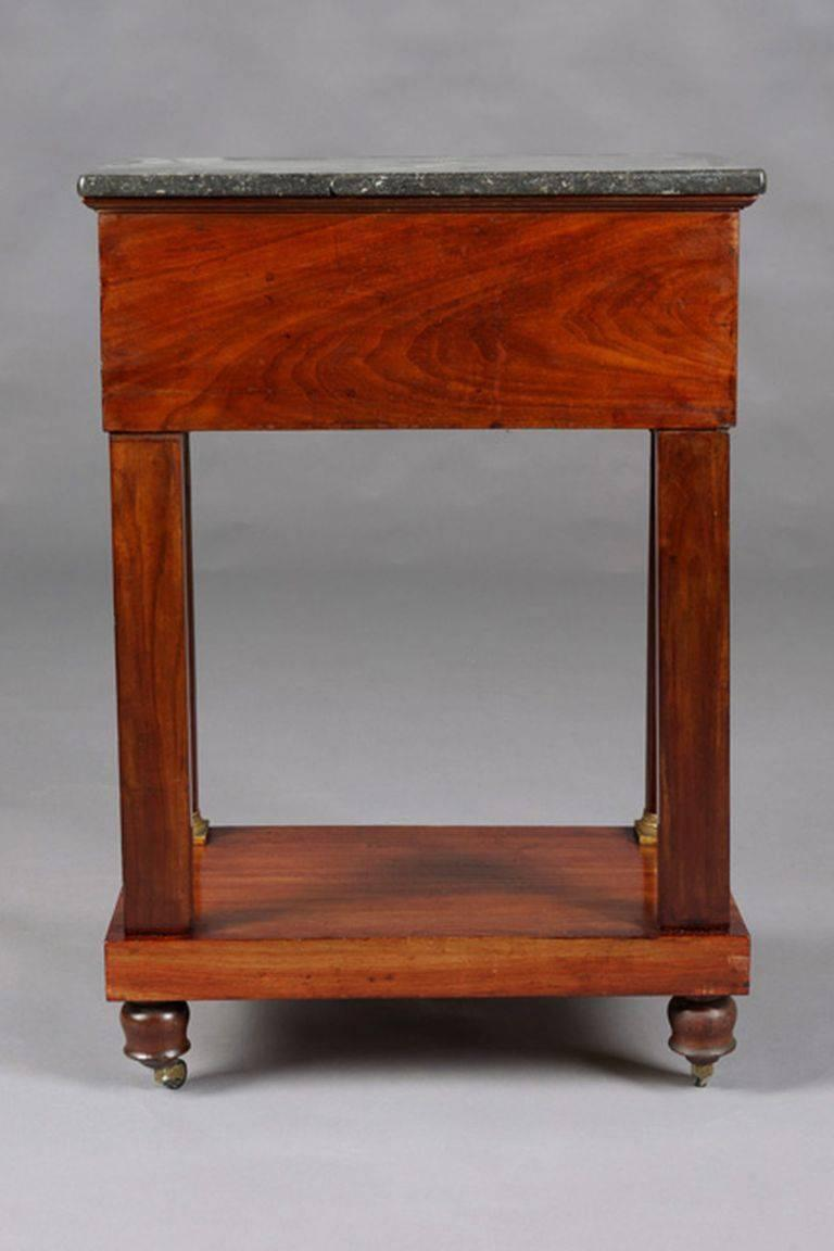 19th Century Empire Commode, Nightstand or Sewing Table In Good Condition For Sale In Berlin, DE