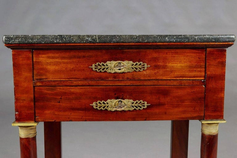 19th Century Empire Commode, Nightstand or Sewing Table For Sale 1