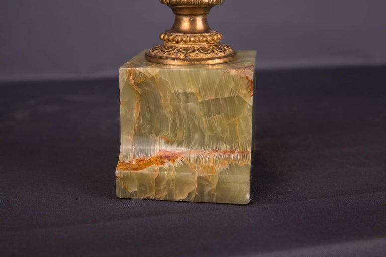 19th Century Empire Fire Gilt Bronze Antique Onyx Vase At 1stdibs
