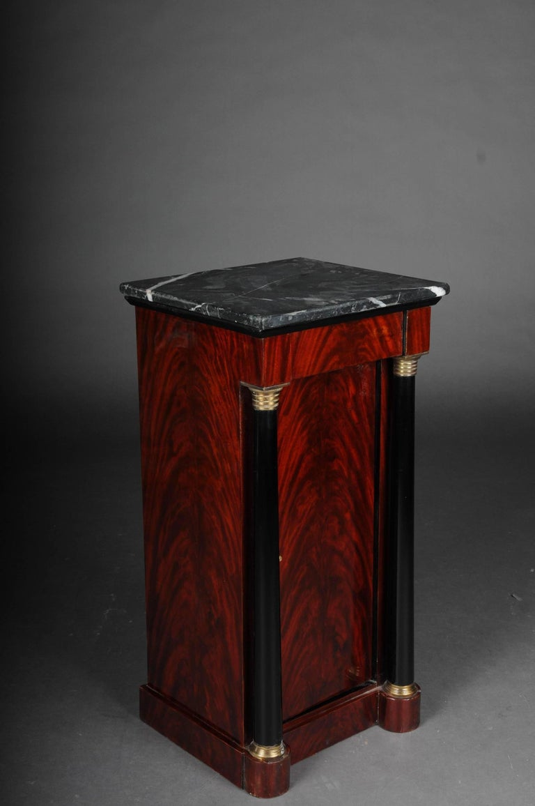 Veneer Classic Bedside Table, Side Table in Biedermeier, Mahogany R For Sale
