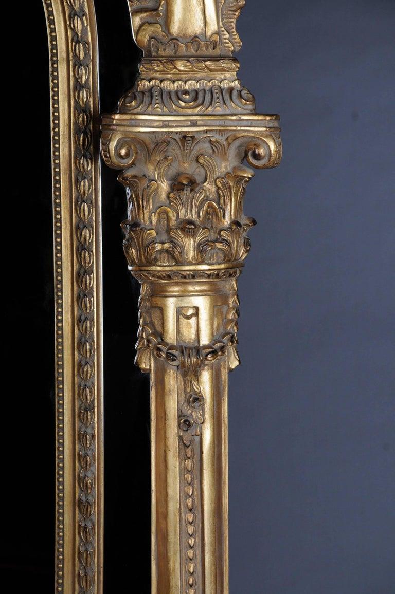 20th Century Gigantic Full-Length Mirror in Louis XVI, Solid beechwood In Good Condition For Sale In Berlin, DE