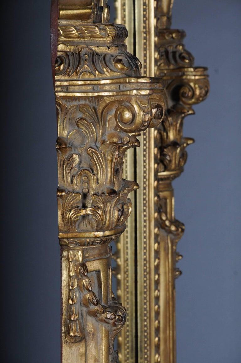 20th Century Gigantic Full-Length Mirror in Louis XVI, Solid beechwood For Sale 2