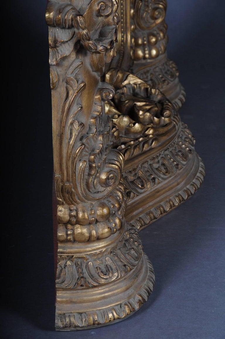 20th Century Gigantic Full-Length Mirror in Louis XVI, Solid beechwood For Sale 3