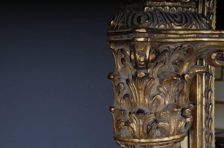 20th Century Gigantic Full-Length Mirror in Louis XVI, Solid beechwood For Sale 4