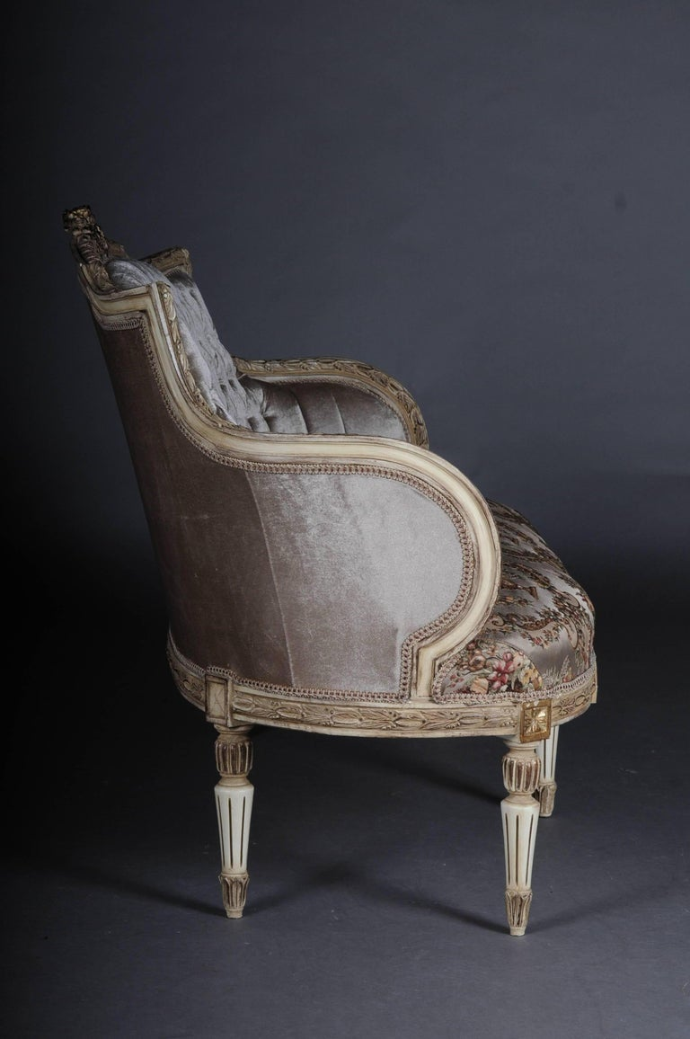 Unique French Seating, Set in Louis XVI For Sale 3