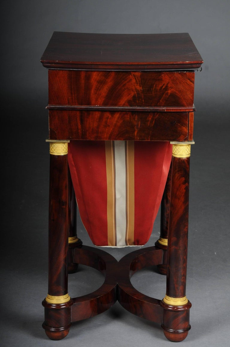 Fired Antique Empire Sewing Table, Paris, circa 1810 For Sale