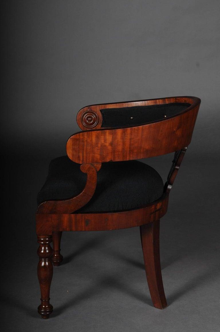 Antique Empire / Biedermeier Armchair, circa 1810, Mahogany For Sale 2