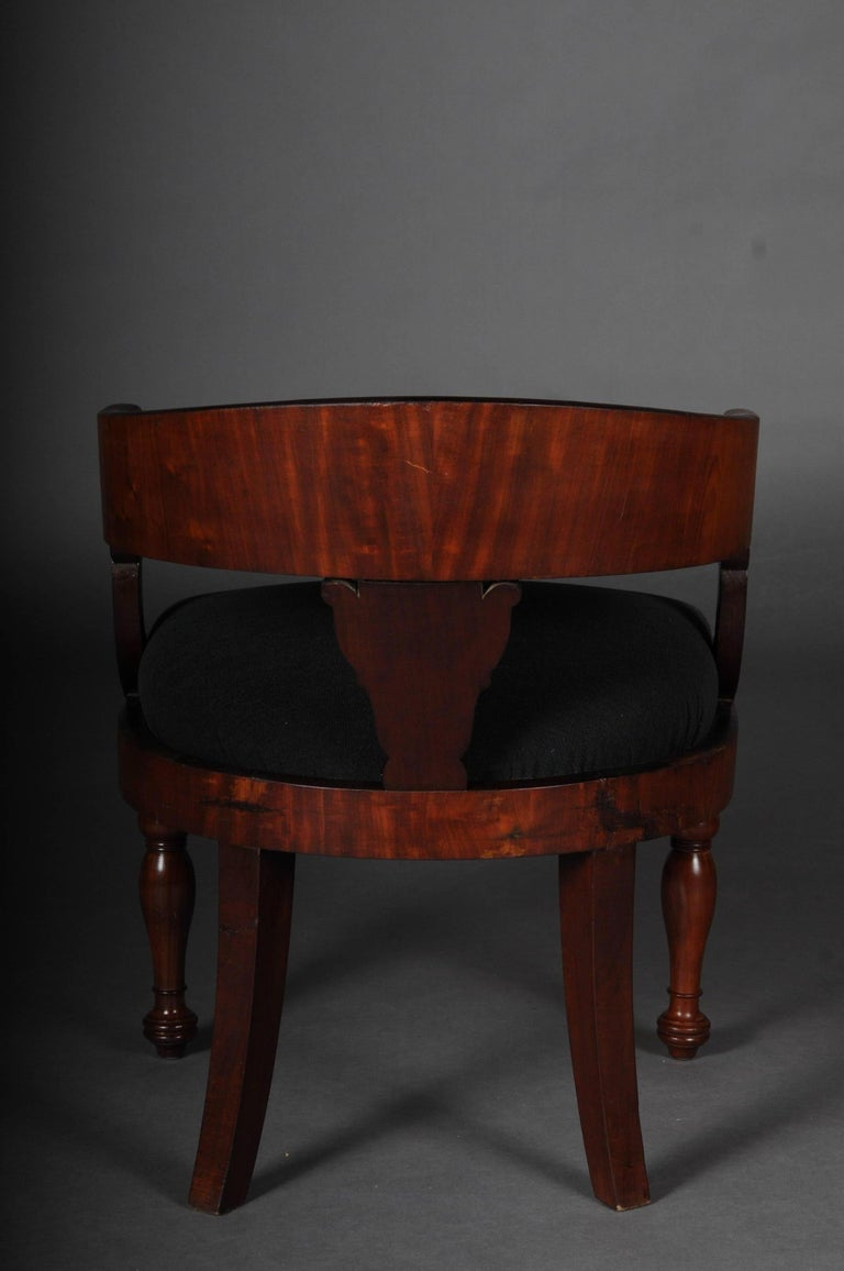 Antique Empire / Biedermeier Armchair, circa 1810, Mahogany For Sale 3
