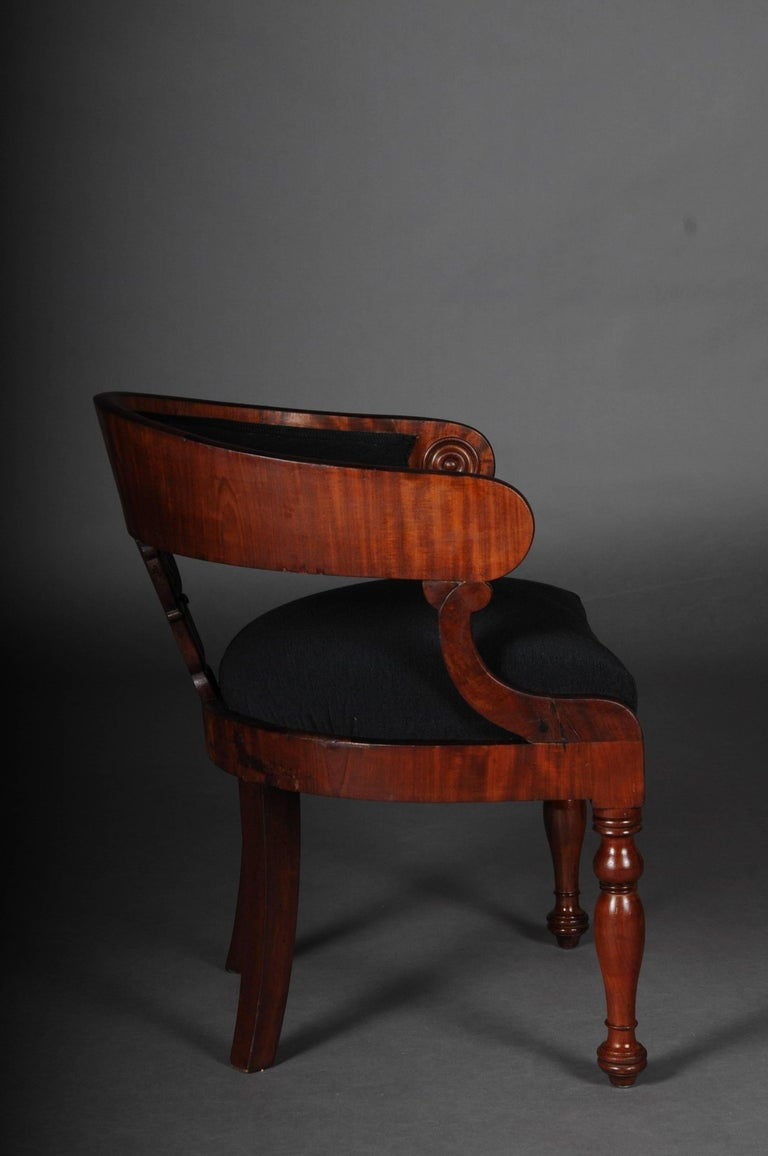 French Antique Empire / Biedermeier Armchair, circa 1810, Mahogany For Sale