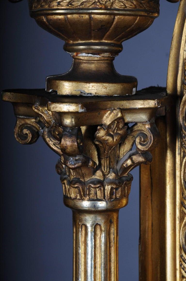 19th Century Classicistic Splendor Mirror Gilt Napoleon III For Sale 1