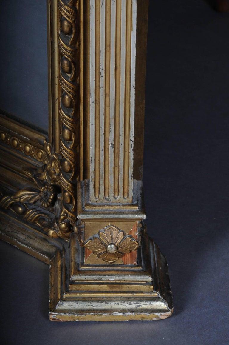 19th Century Classicistic Splendor Mirror Gilt Napoleon III For Sale 2